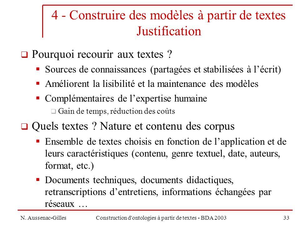 4 - Construire des modèles à partir de textes Justification