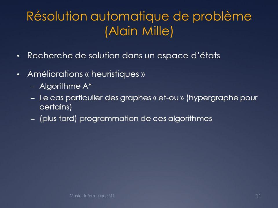 Résolution automatique de problème (Alain Mille)