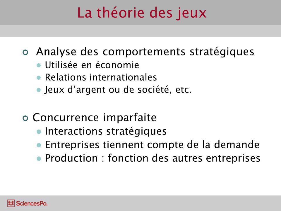 La théorie des jeux Analyse des comportements stratégiques