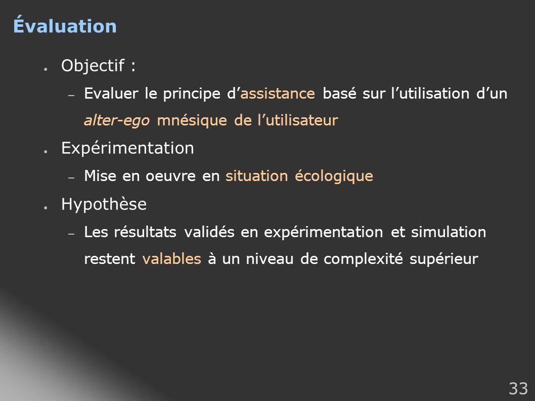 Évaluation Objectif : Expérimentation Hypothèse