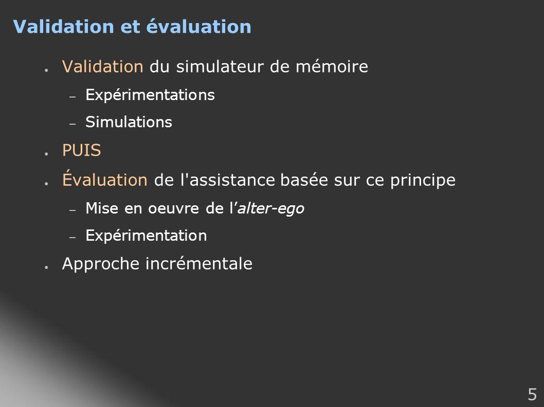 Validation et évaluation