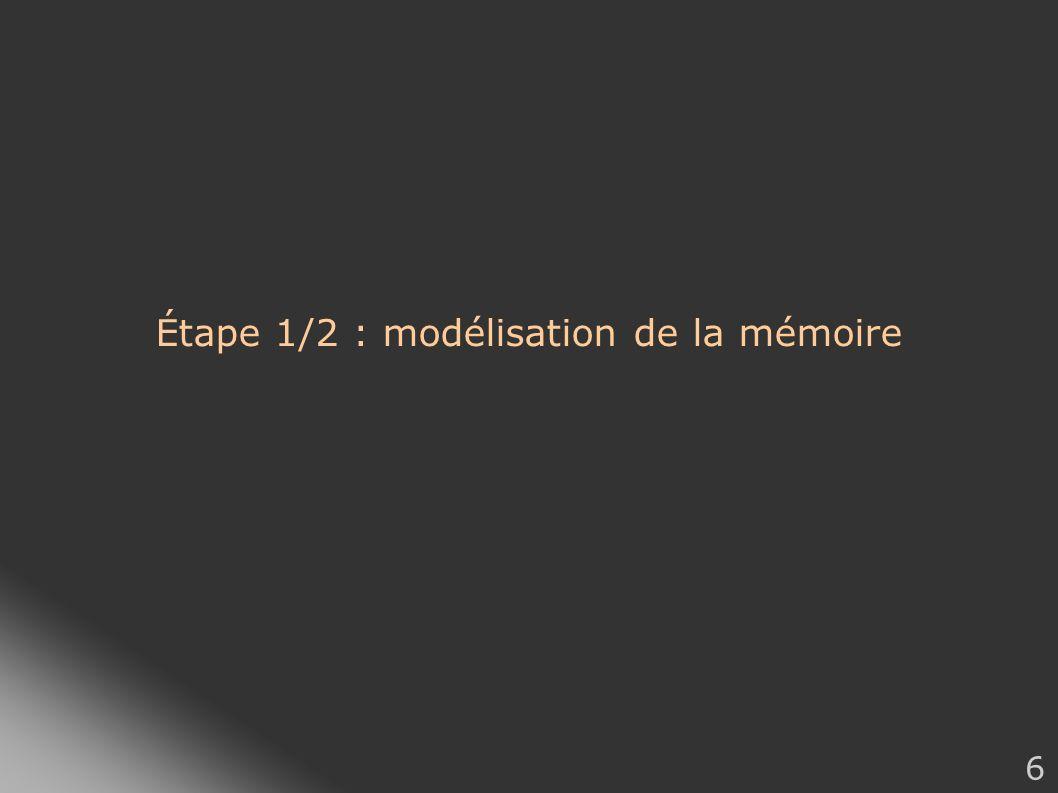 Étape 1/2 : modélisation de la mémoire
