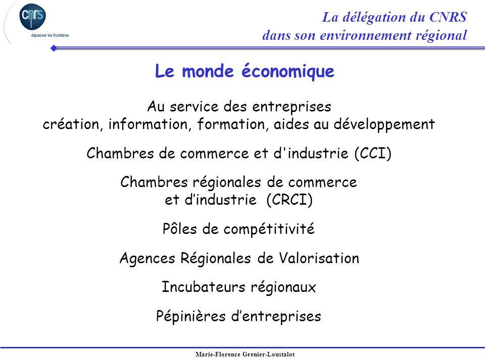 Le monde économique La délégation du CNRS