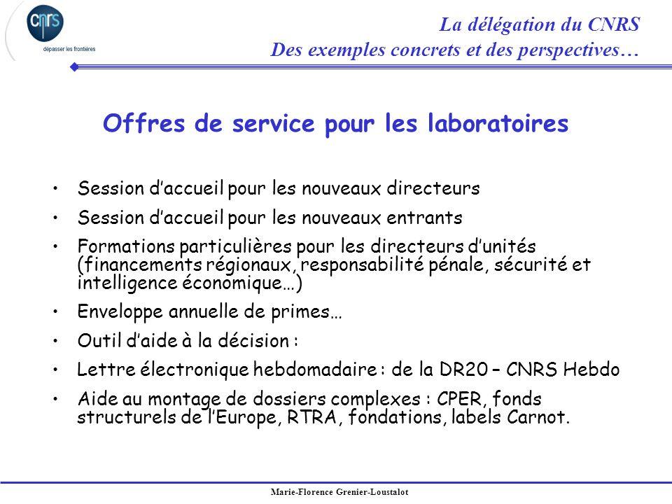 Offres de service pour les laboratoires