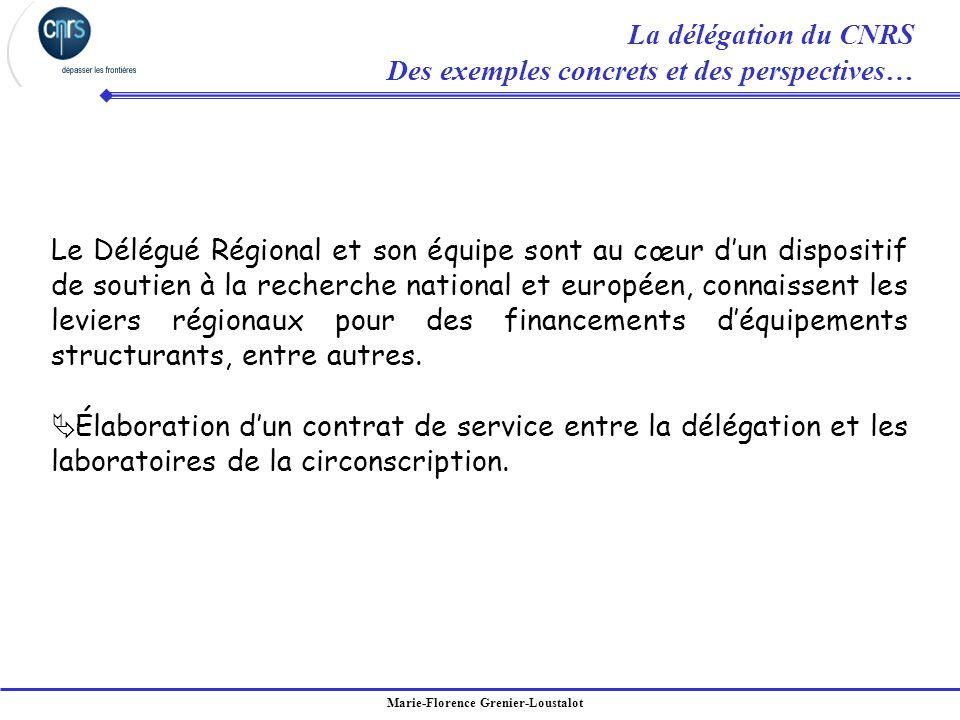 La délégation du CNRS Des exemples concrets et des perspectives…
