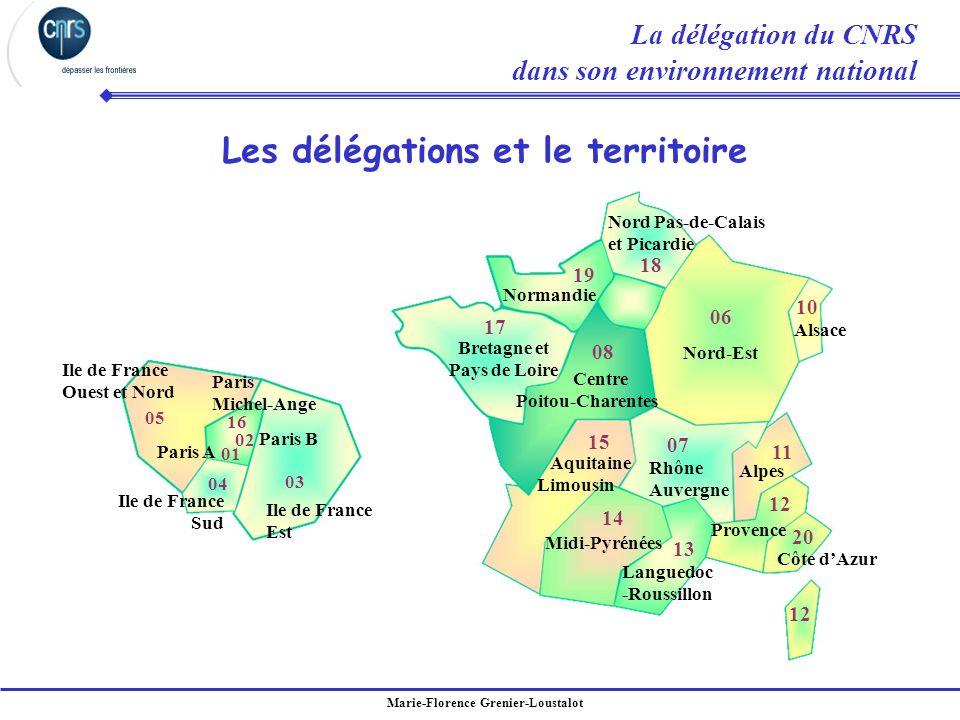 Les délégations et le territoire