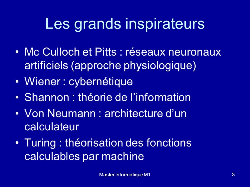 Les grands inspirateurs