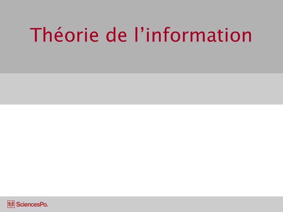 Théorie de l'information