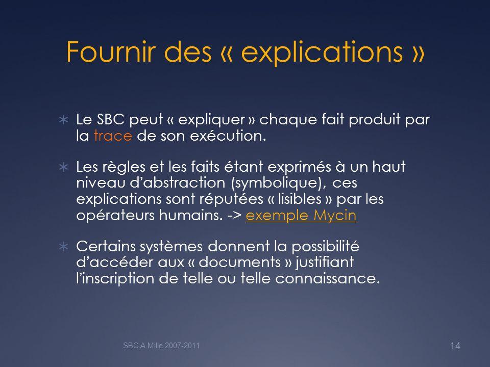 Fournir des « explications »