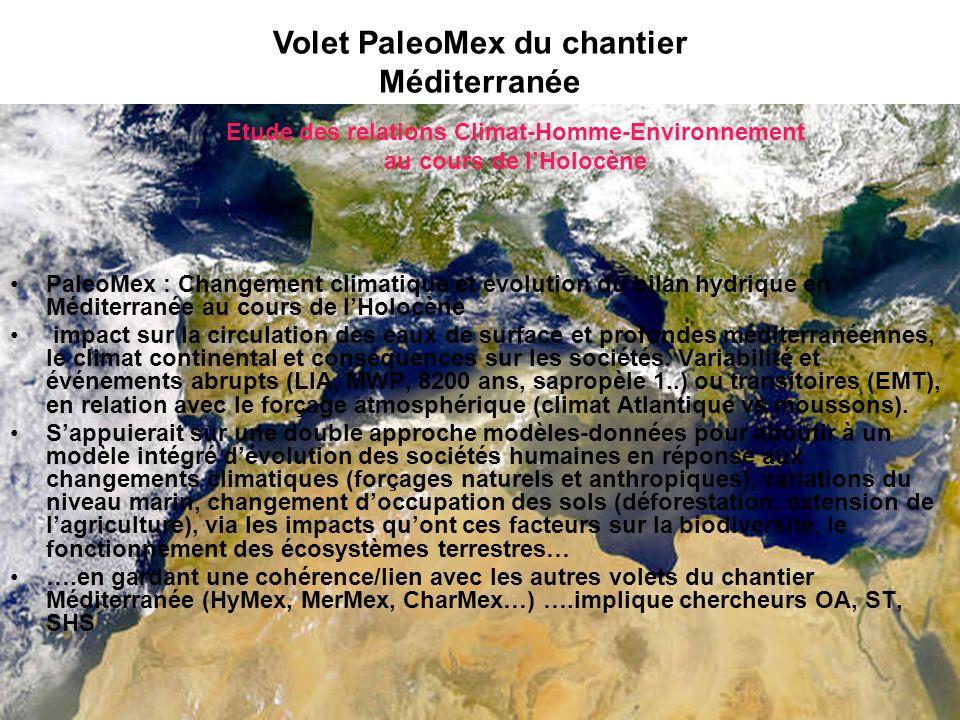 Volet PaleoMex du chantier Méditerranée