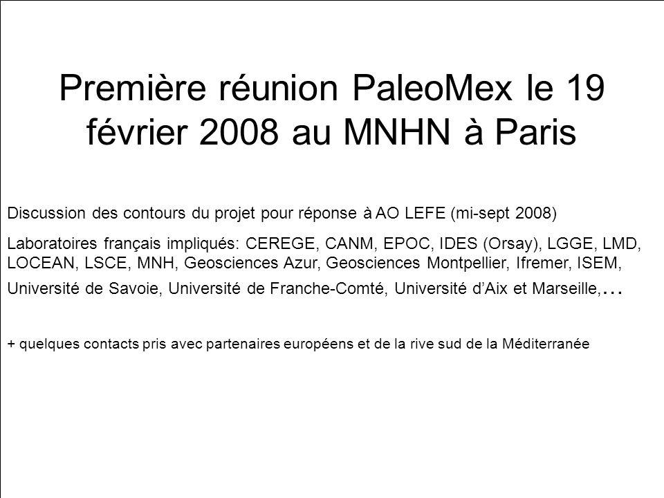 Première réunion PaleoMex le 19 février 2008 au MNHN à Paris