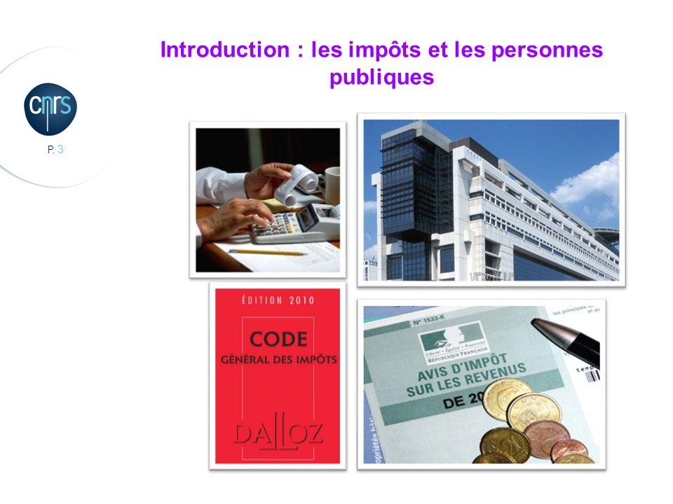 Introduction : les impôts et les personnes publiques