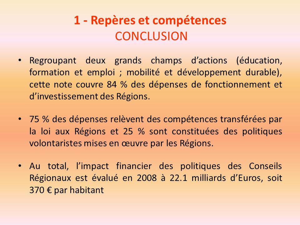 1 - Repères et compétences CONCLUSION