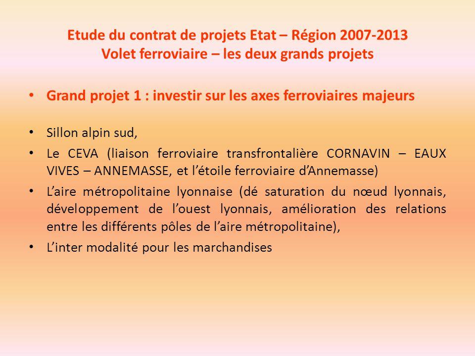 Grand projet 1 : investir sur les axes ferroviaires majeurs