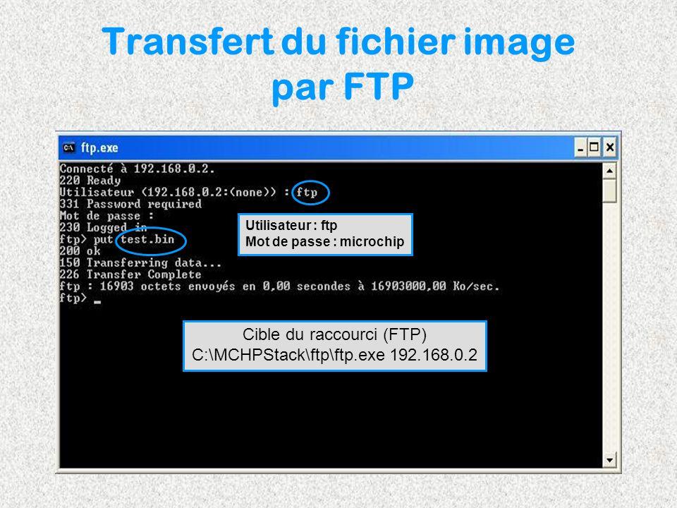Transfert du fichier image par FTP