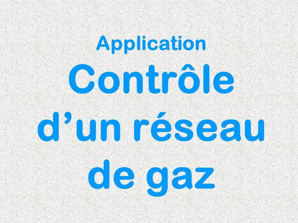 Application Contrôle d'un réseau de gaz