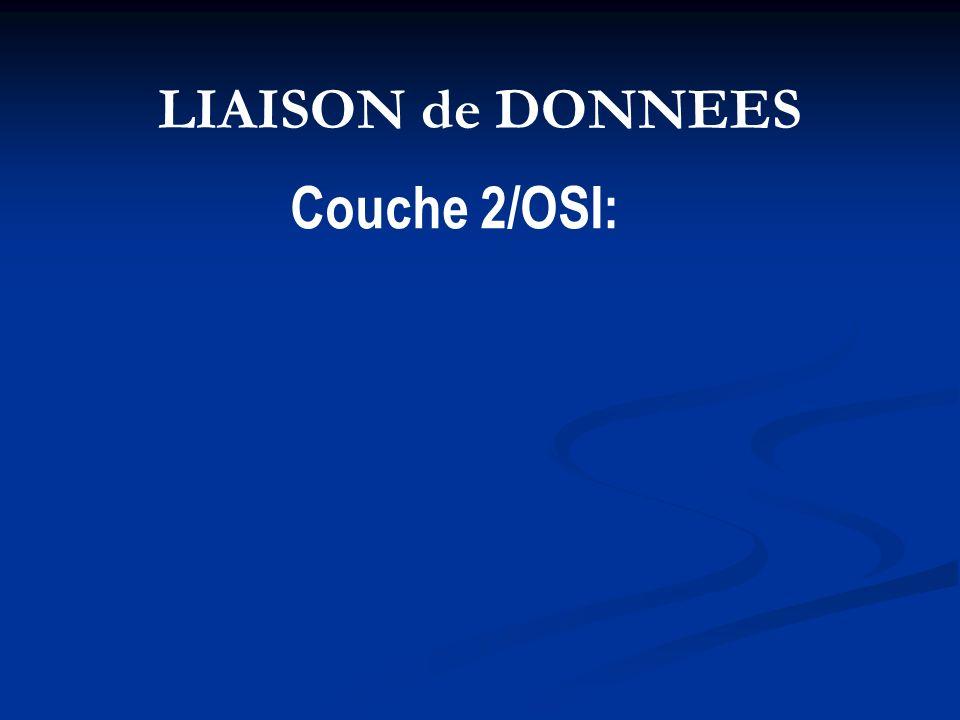 LIAISON de DONNEES Couche 2/OSI: