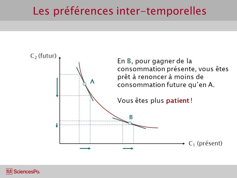 Les préférences inter-temporelles