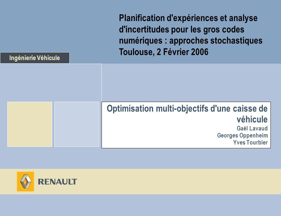 Planification d expériences et analyse d incertitudes pour les gros codes numériques : approches stochastiques