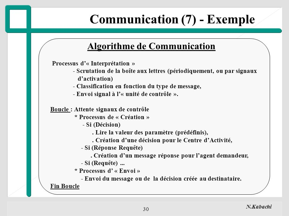 Communication (7) - Exemple