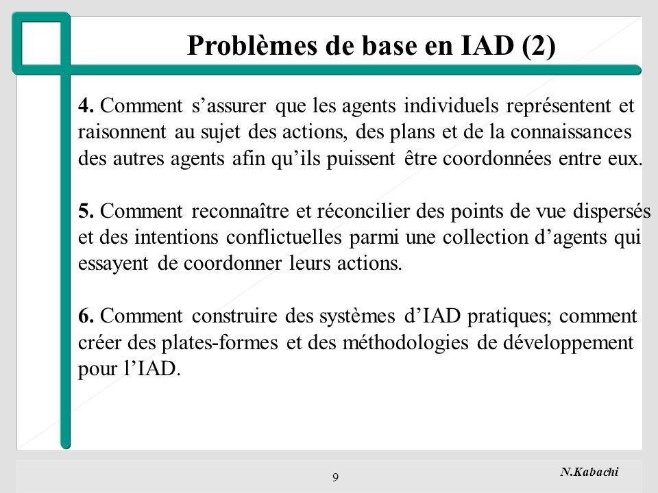 Problèmes de base en IAD (2)