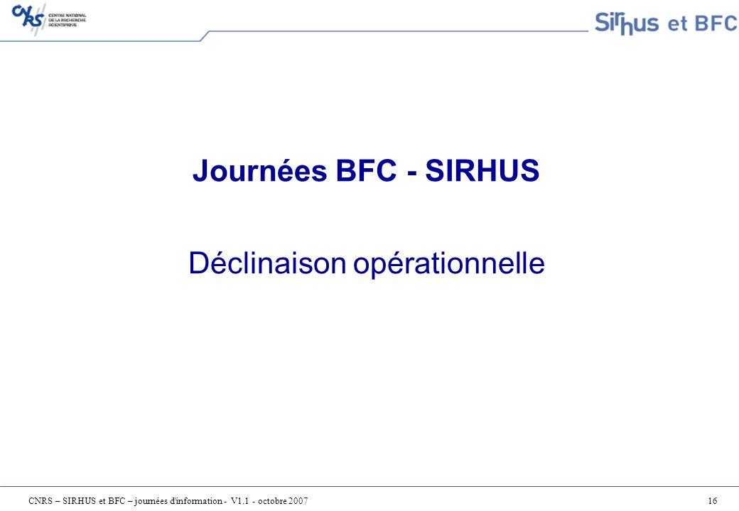 Journées BFC - SIRHUS Déclinaison opérationnelle