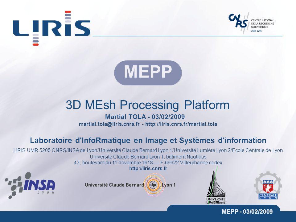 3D MEsh Processing Platform