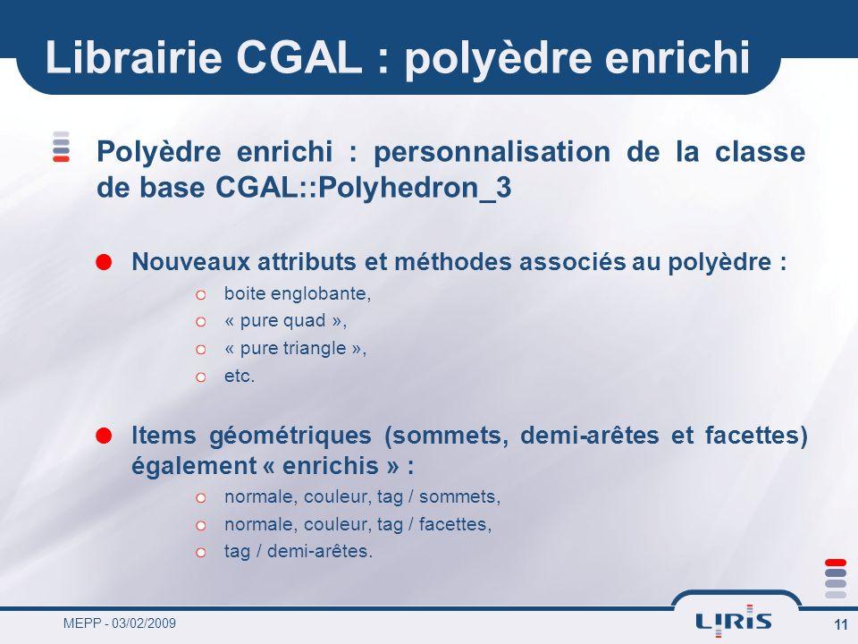 Librairie CGAL : polyèdre enrichi