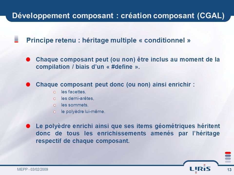 Développement composant : création composant (CGAL)