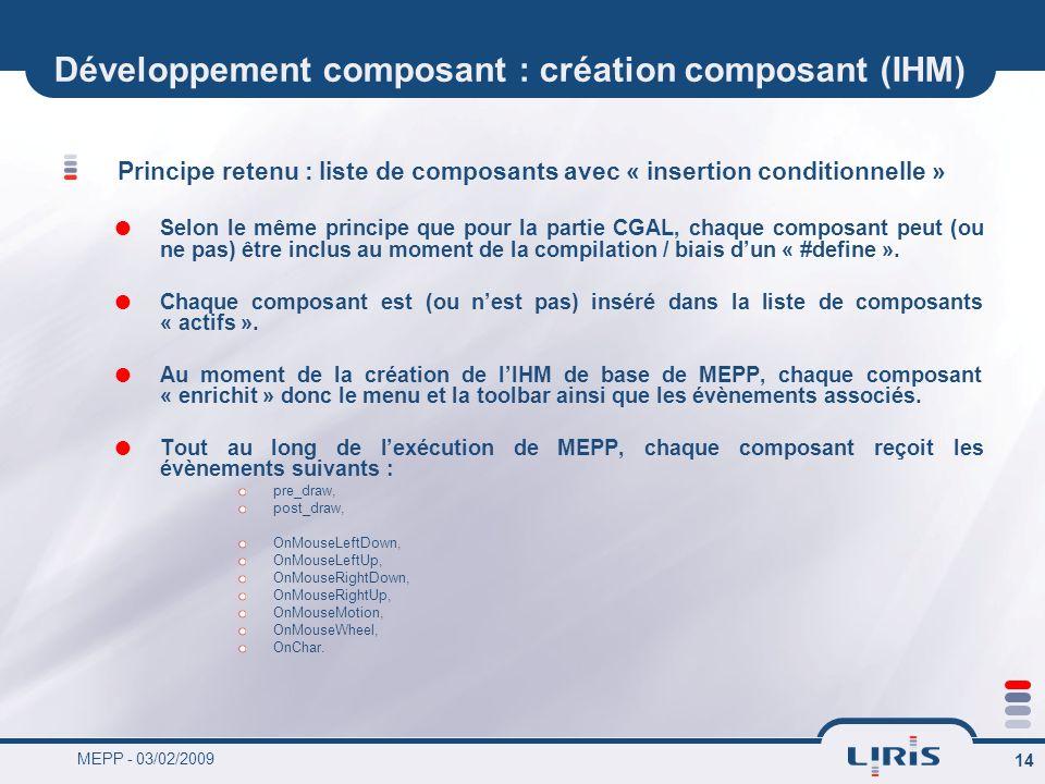 Développement composant : création composant (IHM)