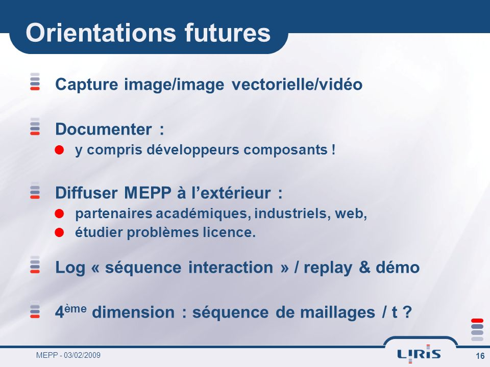 Orientations futures Capture image/image vectorielle/vidéo