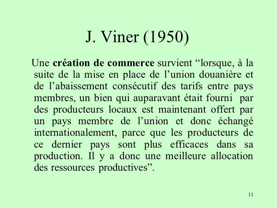 J. Viner (1950)