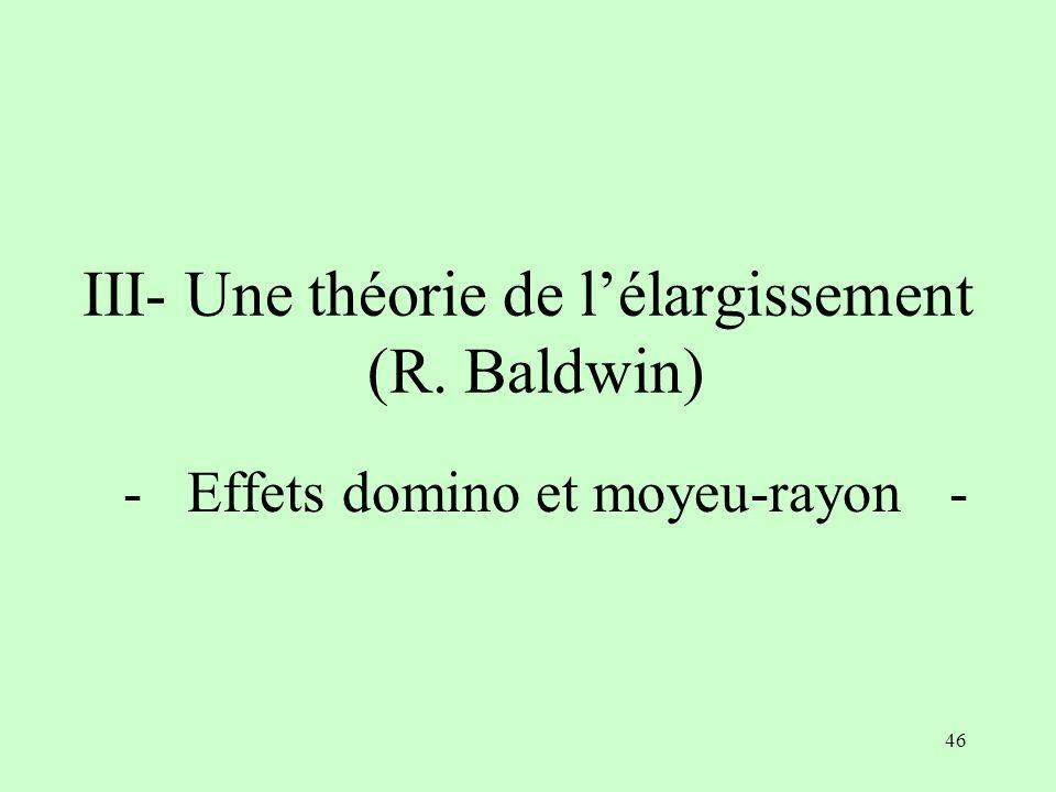III- Une théorie de l'élargissement (R. Baldwin)