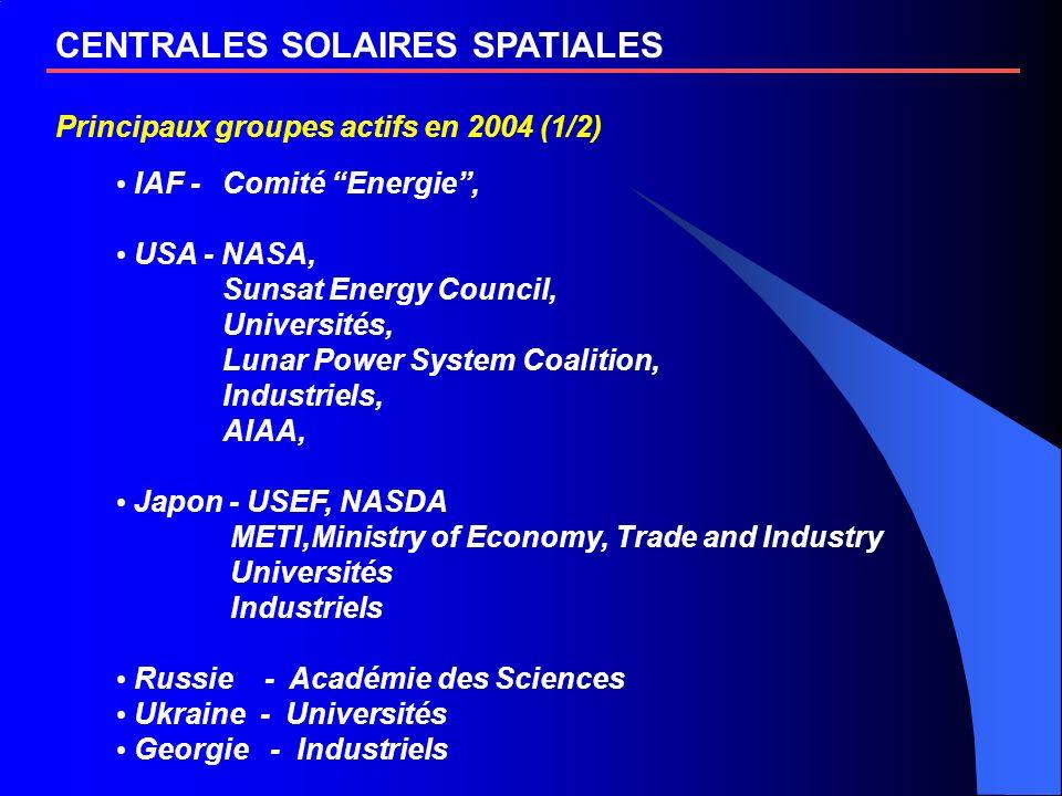 CENTRALES SOLAIRES SPATIALES