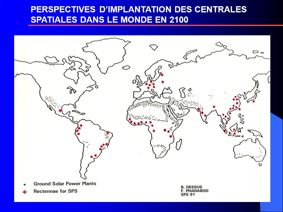 PERSPECTIVES D'IMPLANTATION DES CENTRALES