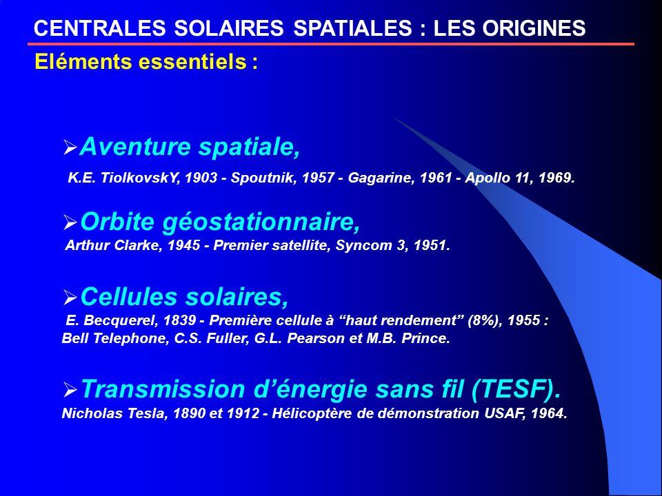CENTRALES SOLAIRES SPATIALES : LES ORIGINES