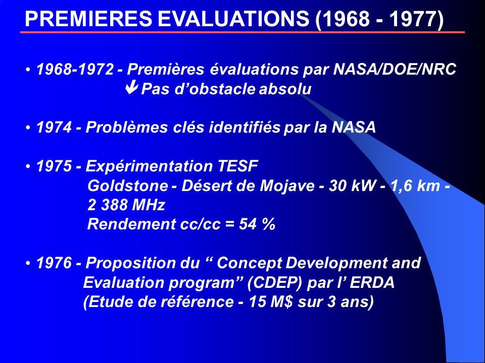 PREMIERES EVALUATIONS (1968 - 1977)