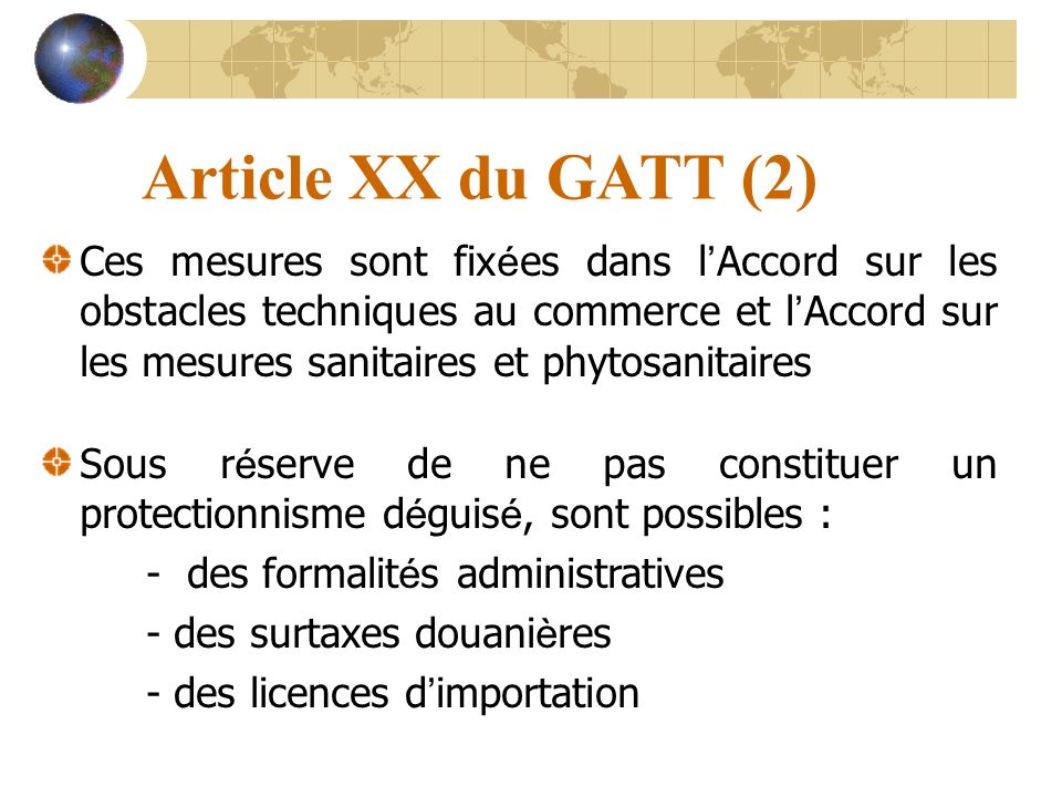 Article XX du GATT (2)