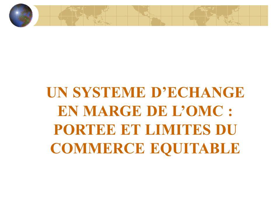 UN SYSTEME D'ECHANGE EN MARGE DE L'OMC : PORTEE ET LIMITES DU COMMERCE EQUITABLE