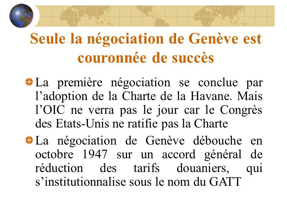 Seule la négociation de Genève est couronnée de succès