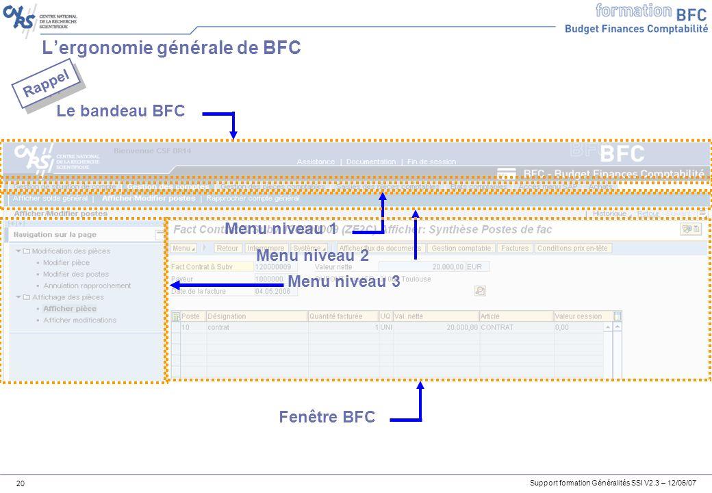 L'ergonomie générale de BFC