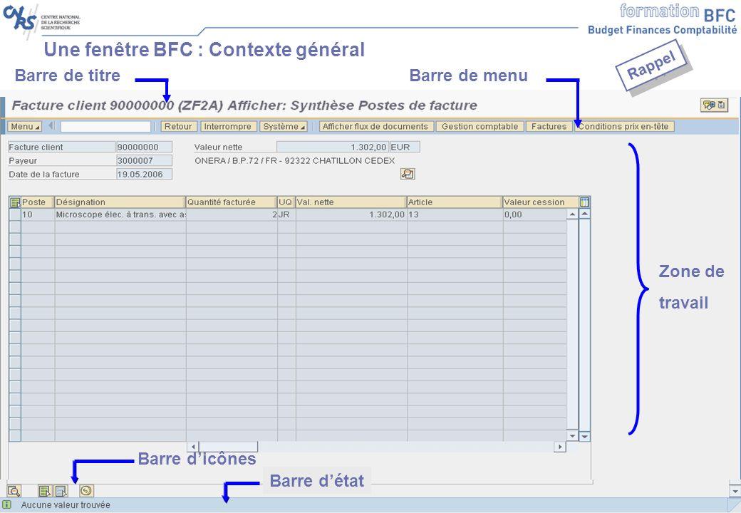 Une fenêtre BFC : Contexte général
