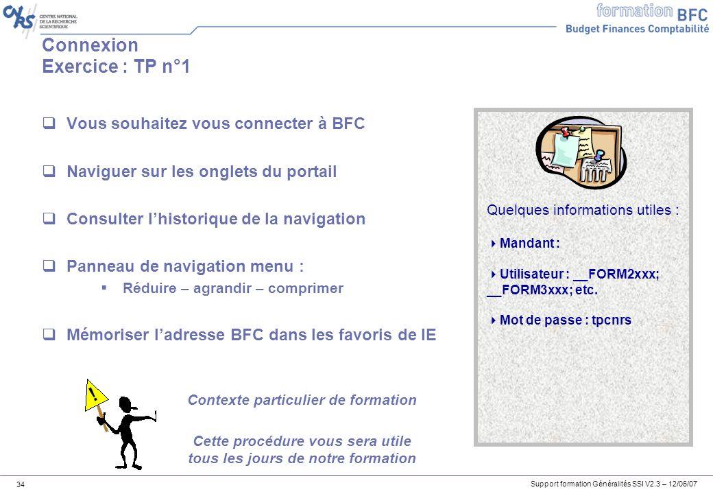 Connexion Exercice : TP n°1