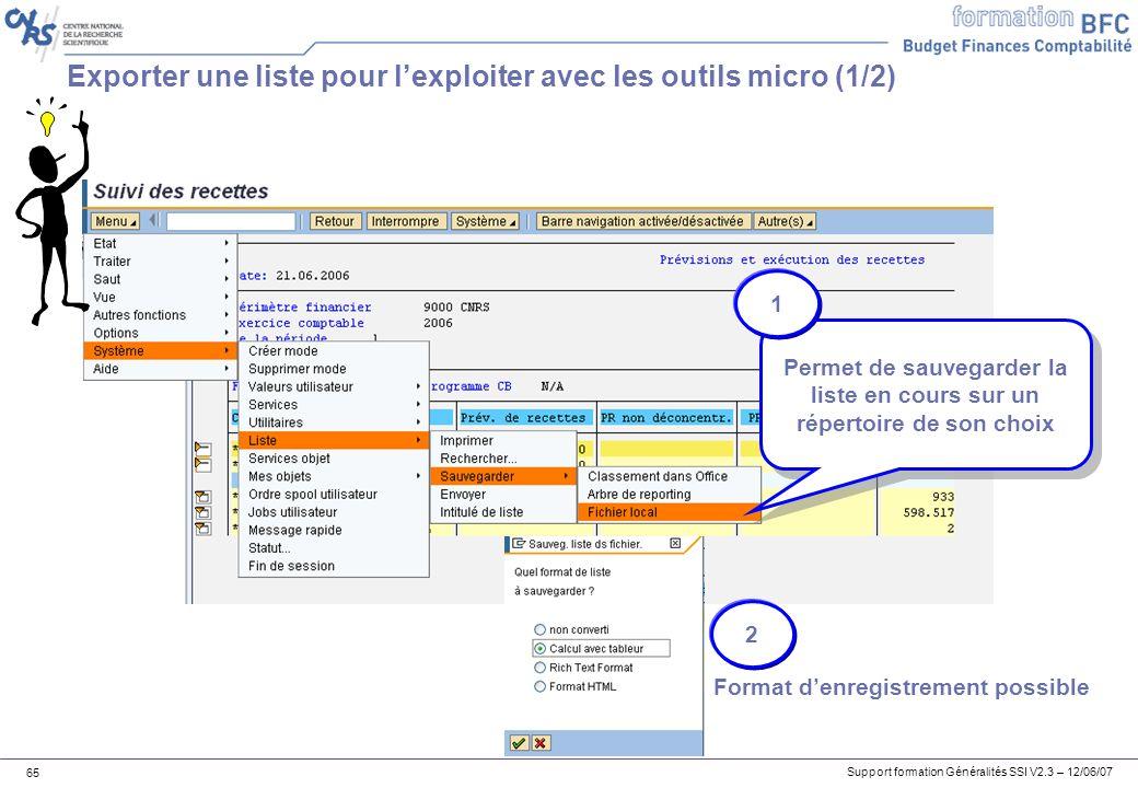 Exporter une liste pour l'exploiter avec les outils micro (1/2)