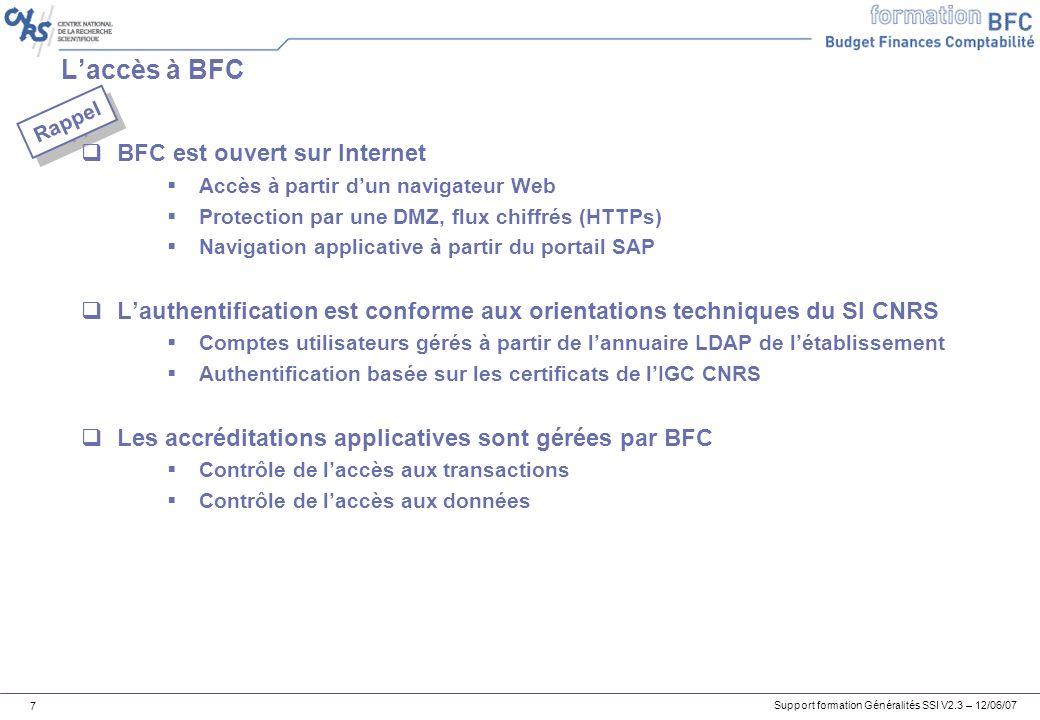 L'accès à BFC BFC est ouvert sur Internet