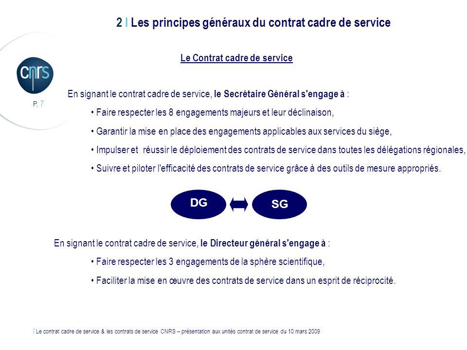 Le Contrat cadre de service