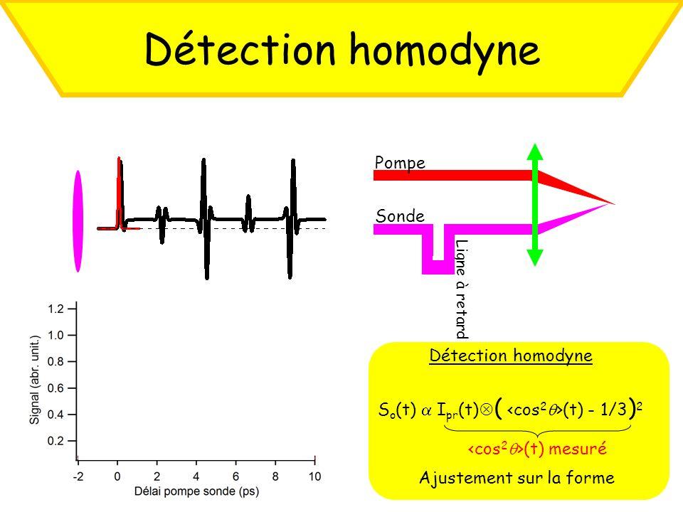 Détection homodyne Pompe Sonde Détection homodyne