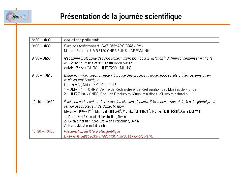 Présentation de la journée scientifique