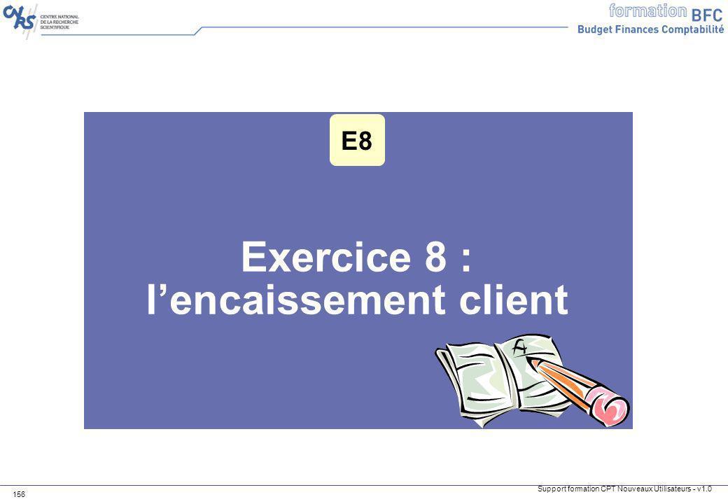 Exercice 8 : l'encaissement client