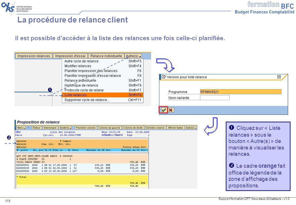 La procédure de relance client